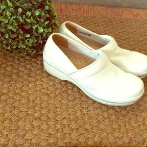 Dansko Vegan All White Clogs